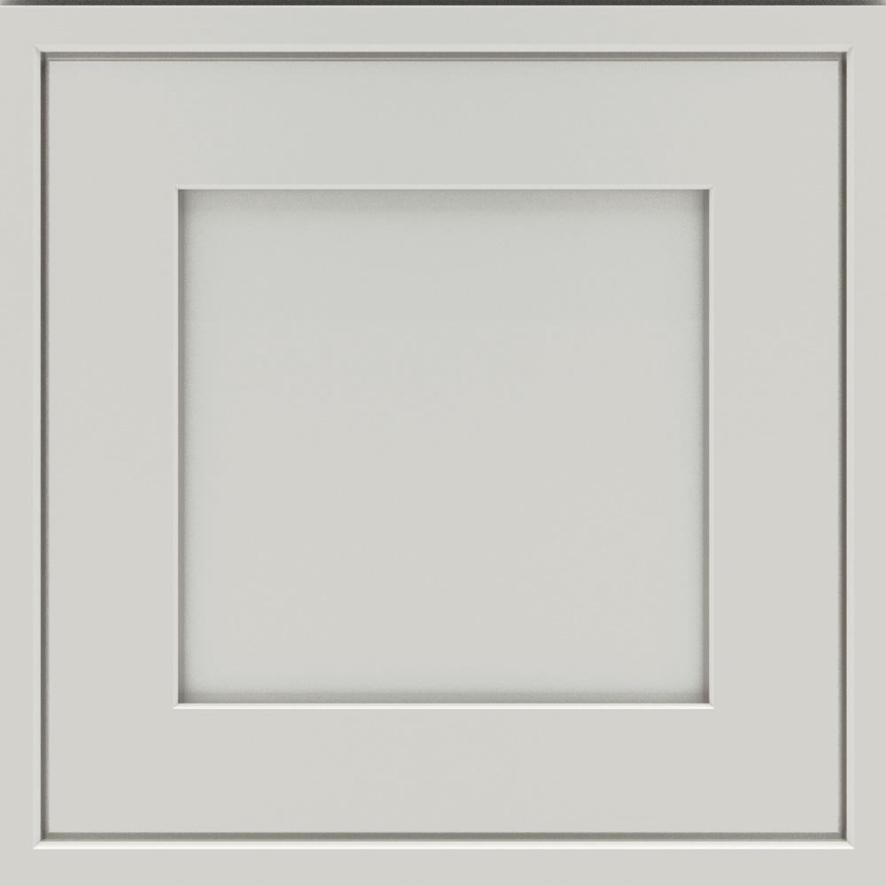 14.5x14.5 in. Cabinet Door Sample in Overbook Feather Gray