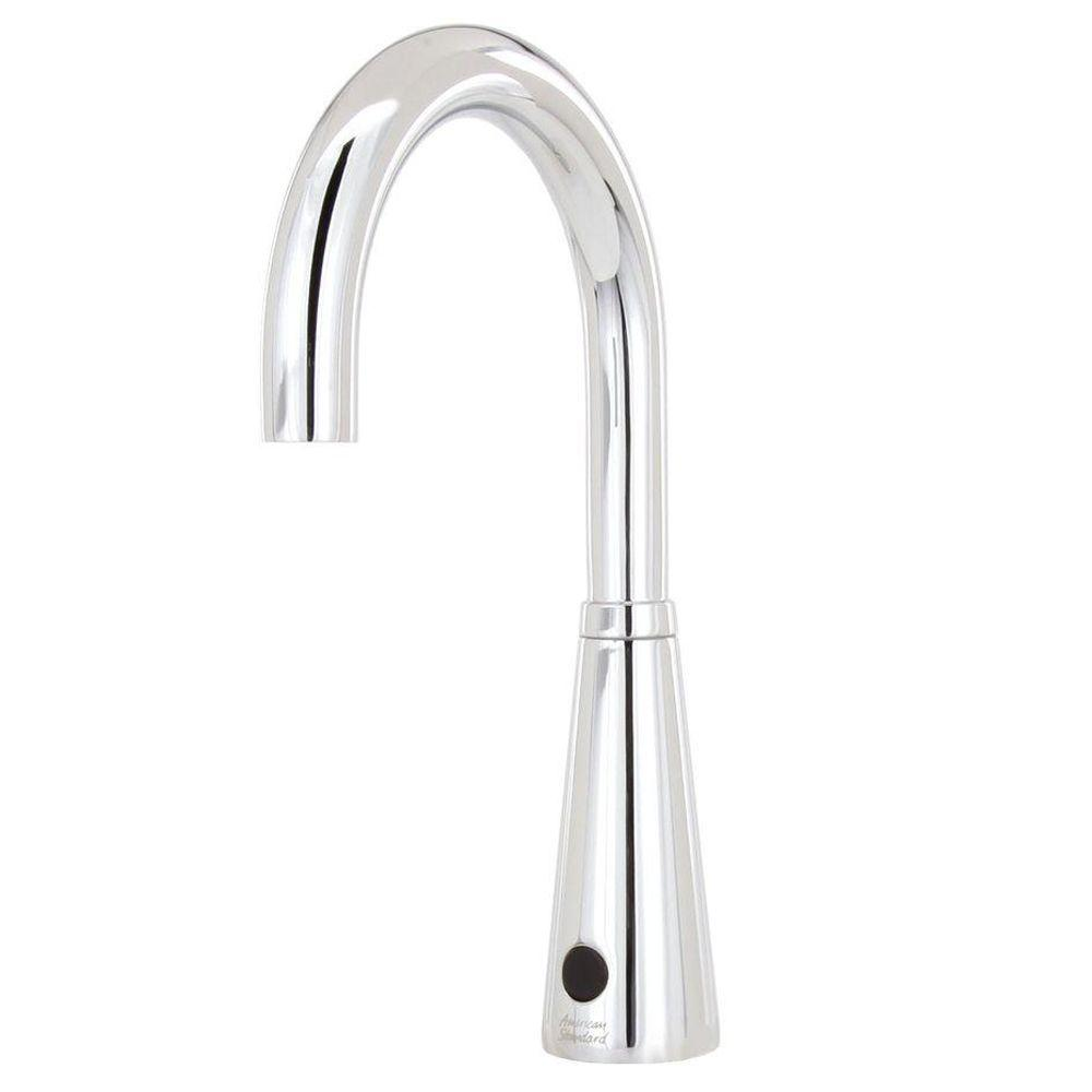 American Standard Selectronic DC Powered Single Hole Touchless Bathroom Faucet with 6 in. Gooseneck Spout in Polished Chrome