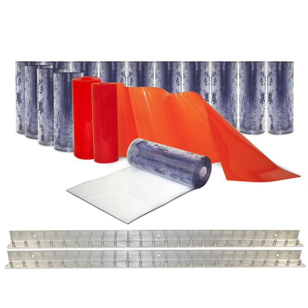 Clear-Flex II 8 ft. x 8 ft. PVC Strip Door Kit