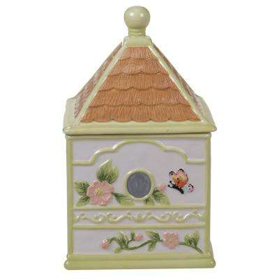 Spring Meadows Multi-Colored 11.25 in. 3-D Bird House Cookie Jar