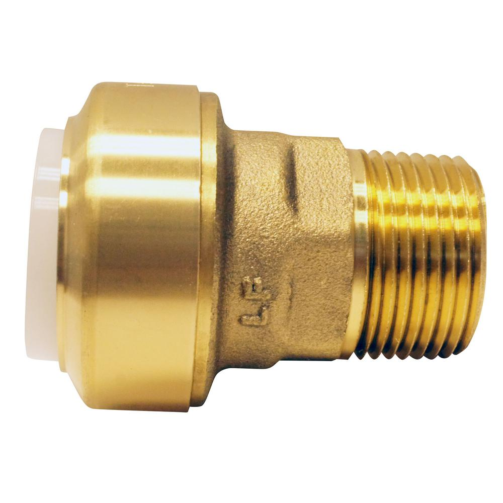 Tectite 3/4 in  Brass Push-to-Connect PVC IPS x 3/4 in  Male Pipe Thread  Adapter