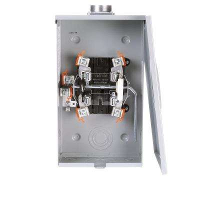 200 Amp 4 Jaw Ringless Overhead Feed Meter Socket with Lever Bypass