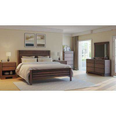 Vienna Cinnamon Queen Platform Bed Frame