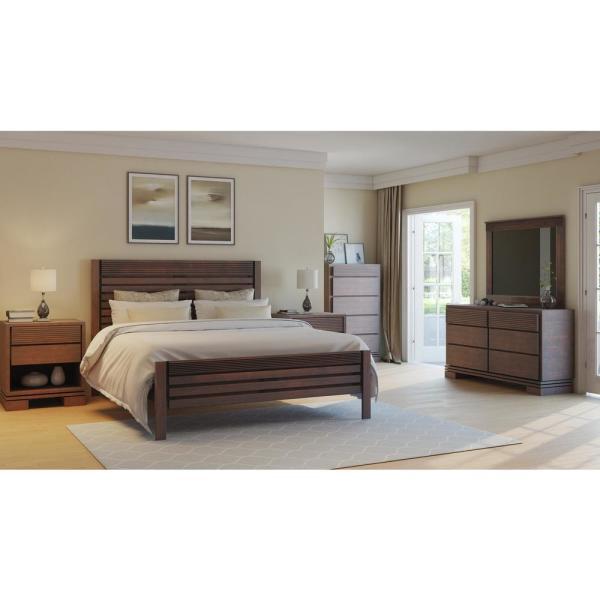 Artefama Furniture Vienna Cinnamon Queen Platform Bed Frame 5828.0001