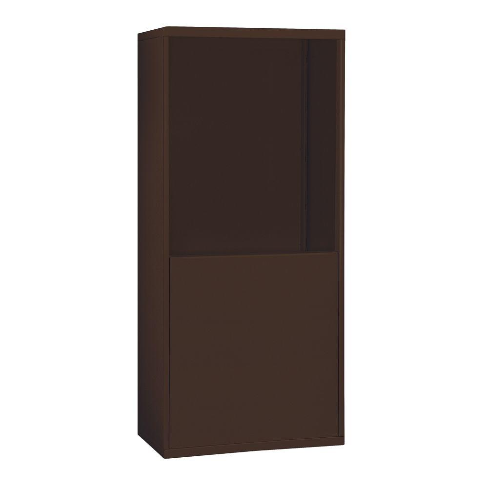 19900 Series 37 in. W x 61 in. H x 9.25 in. D Aluminum for 19068-30 R-Mounted Cell Phone Enclosure in Bronze,  Gold