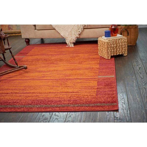 Unique Loom Autumn Foilage Terracotta 5 0 X 8 0 Area Rug 3138243 The Home Depot