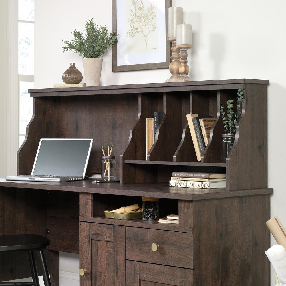 New Grange Coffee Oak Desk Organizer Hutch
