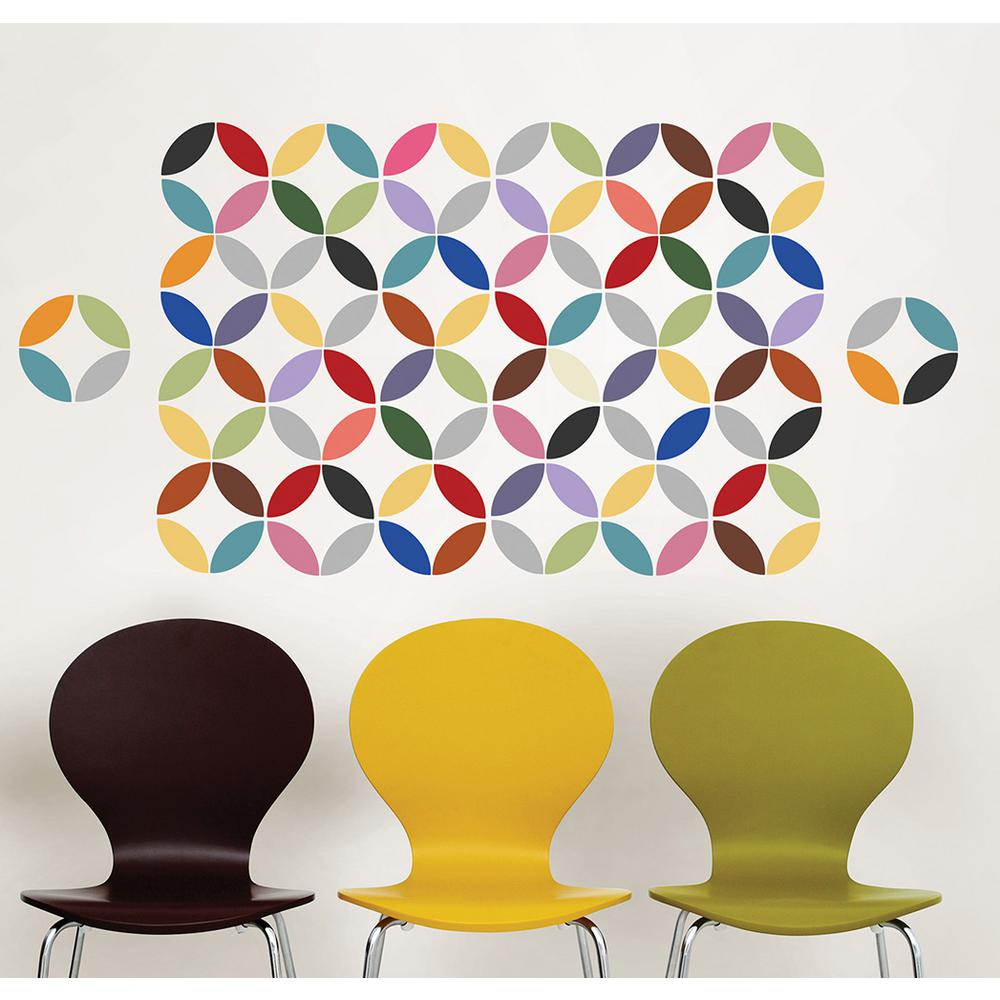 34.5 in. x 39 in. Pinwheel Wall Decal