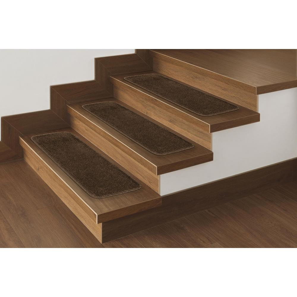 Softy Collection Brown 9 in. x 26 in. Rubber Back Stair