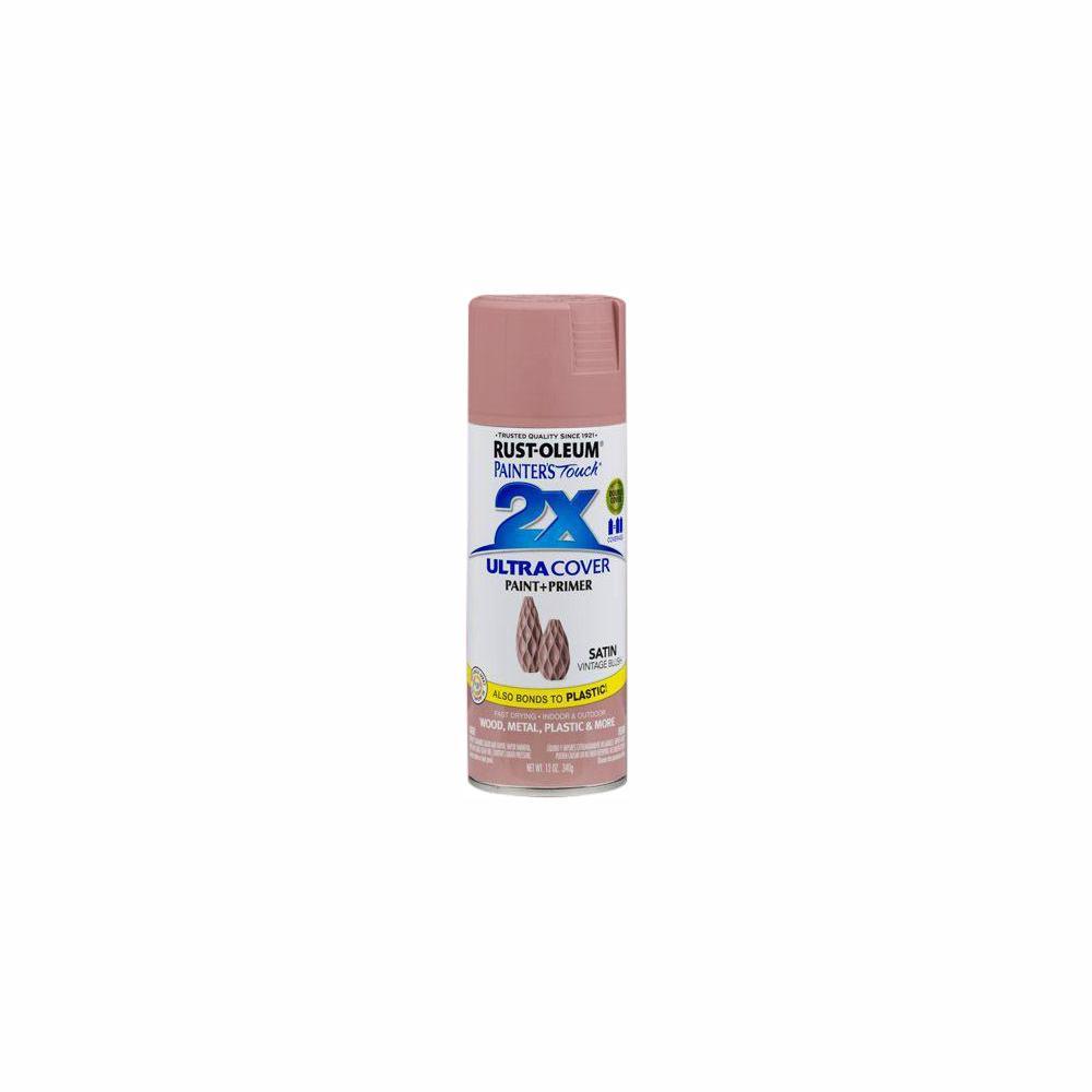 Rust-Oleum Painter's Touch 2X 12 oz. Vintage Blush Satin General Purpose Spray Paint (6-Pack)