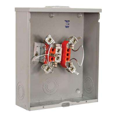 200 Amp Ringless Overhead Underground Tri-Plex Ground Horn By-Pass 5-Terminal Meter Socket