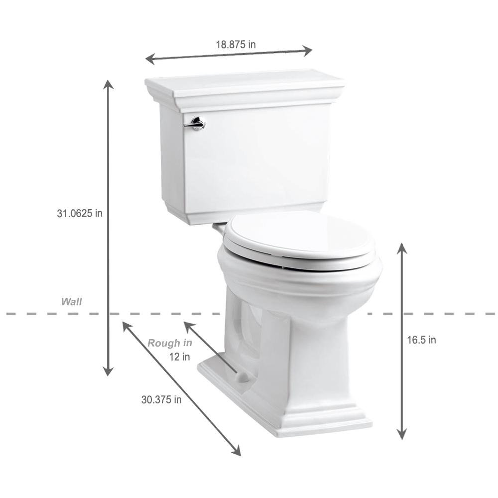 Fabulous Kohler Memoirs Stately 2 Piece 1 28 Gpf Single Flush Elongated Toilet With Aquapiston Flush Technology In White Unemploymentrelief Wooden Chair Designs For Living Room Unemploymentrelieforg