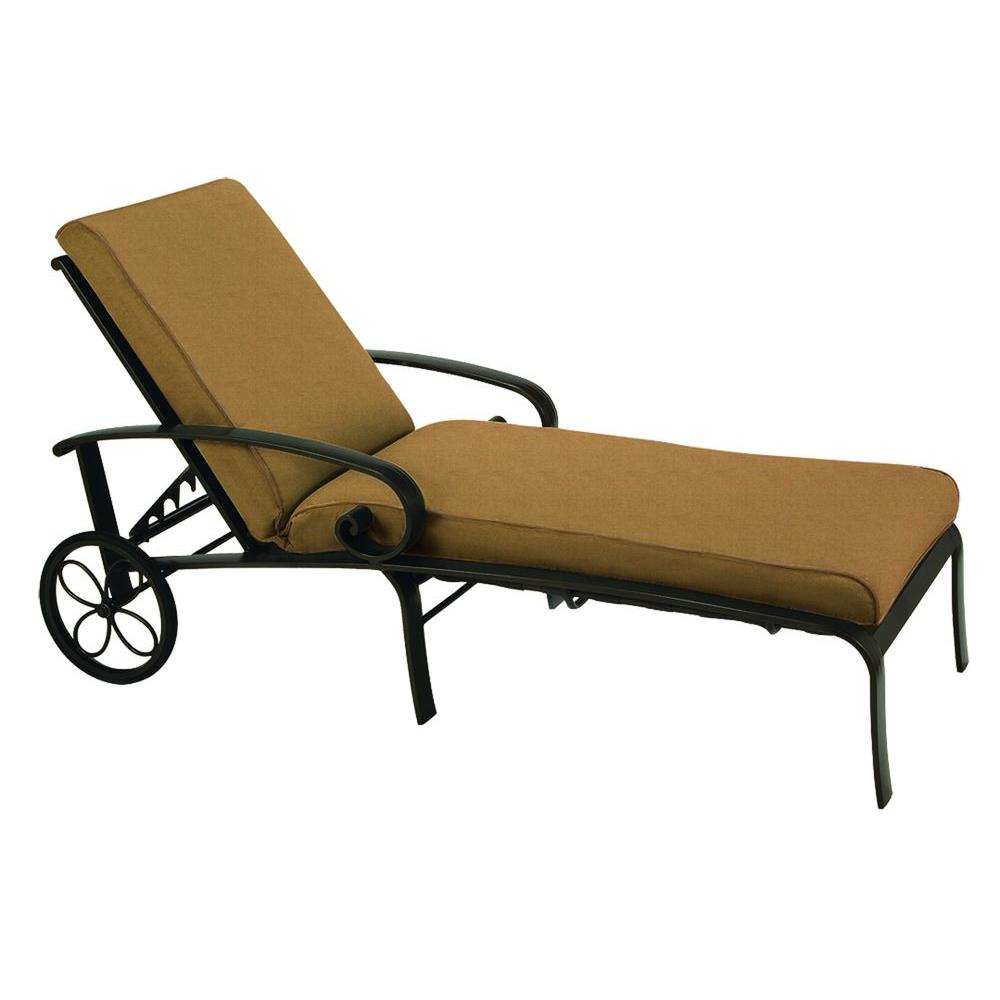 Tradewinds Valle Vista Fife Teak and Textured Pewter Chaise-DISCONTINUED