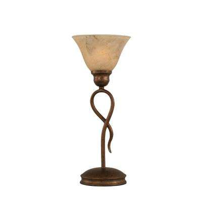Concord 13.25 in. Bronze Table Lamp with Italian Marble Glass