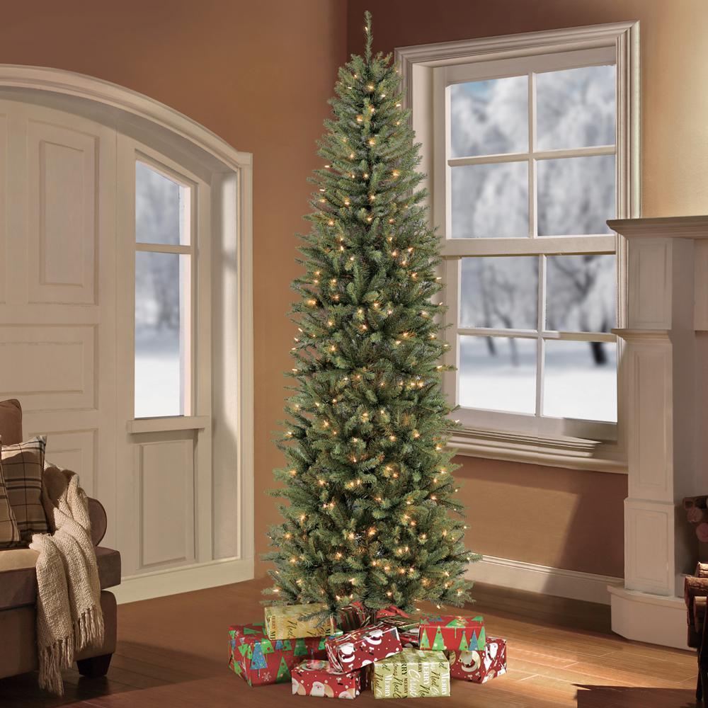 pre lit fraser fir pencil tree artificial christmas tree with 350 - Pencil Christmas Tree Decorating Ideas