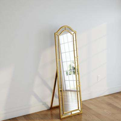 Mark Gold Leaner Floor Mirror