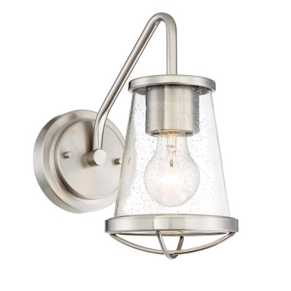 Darby 1-Light Satin Platinum Interior Wall Sconce