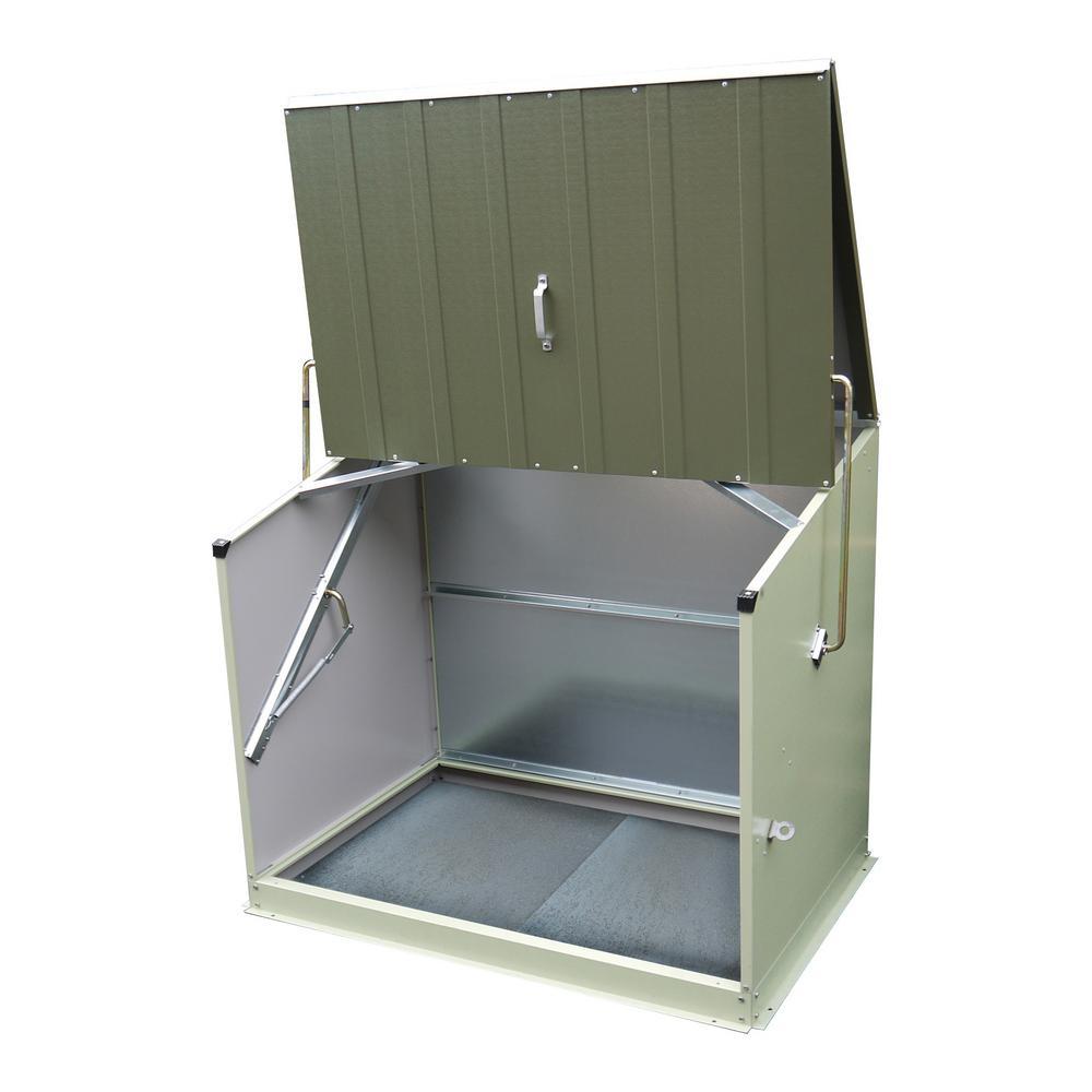 Bosmere 4-1/2 ft. x 3 ft. Heavy-Duty Steel Stowaway Storage Shed