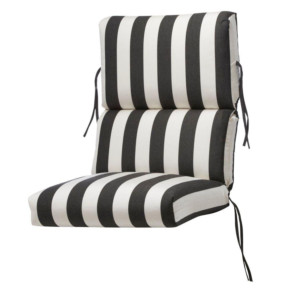 Home Decorators Collection Sunbrella Maxim Classic Outdoor Dining Chair Cushion
