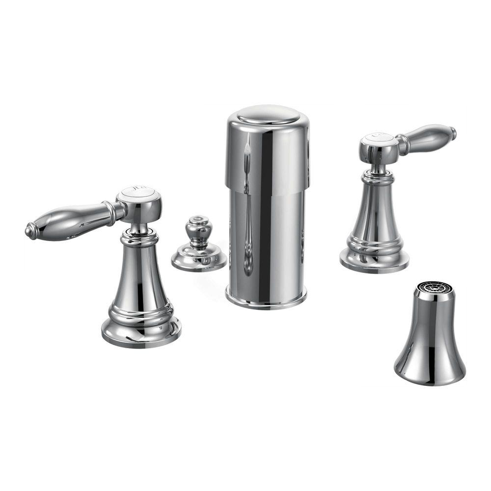 MOEN Weymouth 2-Handle Bidet Faucet in Chrome