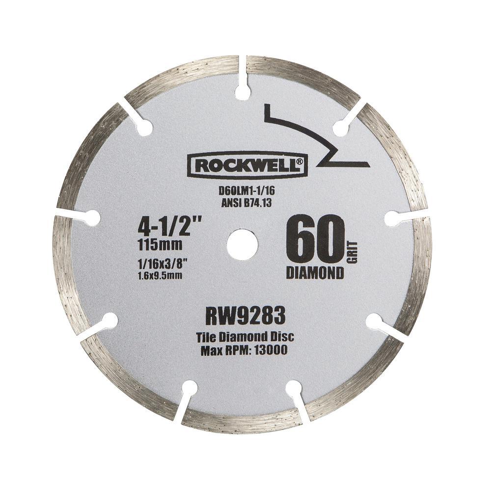 4-1/2 in. 60-Grit Diamond Compact Circular Saw Blade