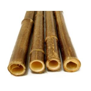 1 in. x 6 ft. Black Bamboo Poles (25-Pack/Bundled)