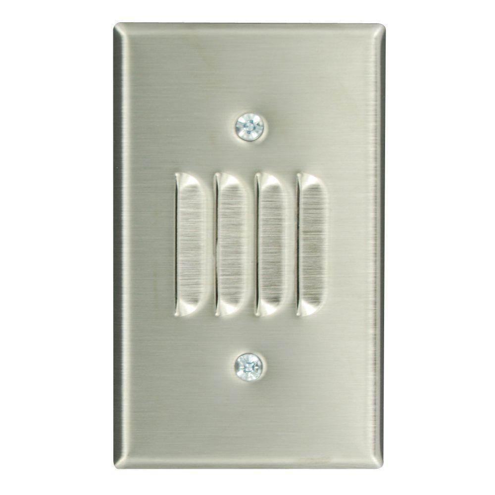 1gang standard size louvre box mount wallplate stainless steel