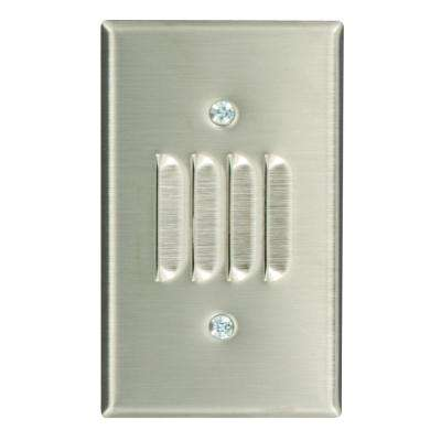 1-Gang Standard Size Louvre Box Mount Wallplate, Stainless Steel