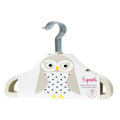 Beige Owl Hangers (pack of 10)