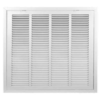 24 in. x 24 in. T-Bar Drop Ceiling Lay In Return Air Filter Grille with Duct Board Insulation