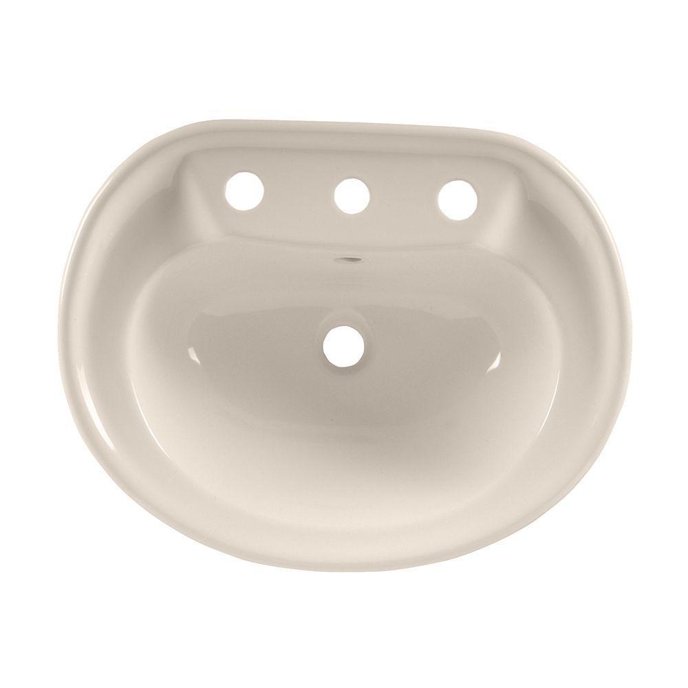 Savona Drop-In Bathroom Sink in Linen