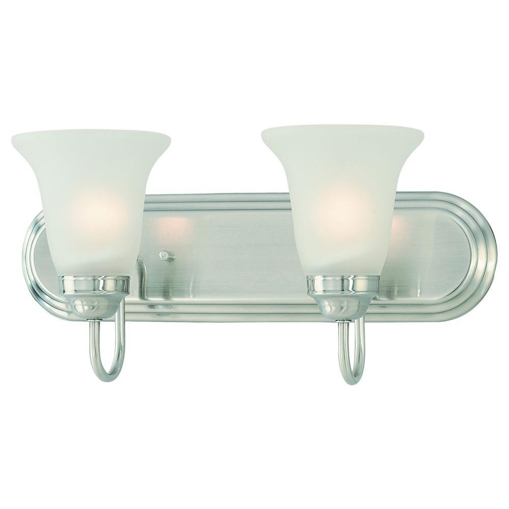 Thomas Lighting Homestead 2-Light Satin Pewter Wall Vanity