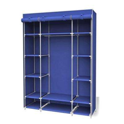 18 in. x 67 in. Navy Storage Closet Portable Wardrobe with Shelf