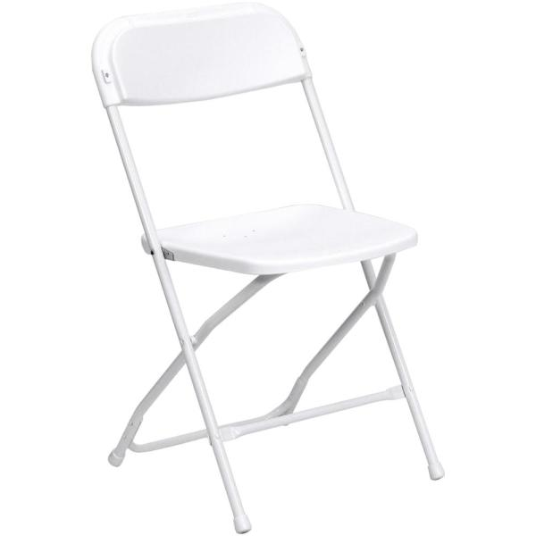 Advantage White Poly Dining Folding Chair PPFC-WHITE