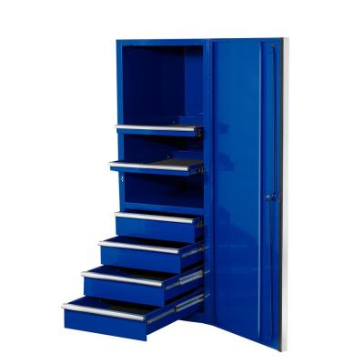 24 in. 4-Drawer 2-Shelf Professional Side Chest in Blue
