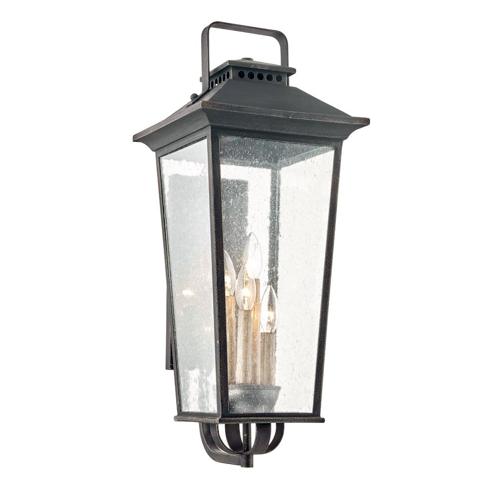 Fifth And Main Lighting Parsons Field 4 Light Aged Pewter Outdoor Wall Lantern Sconce