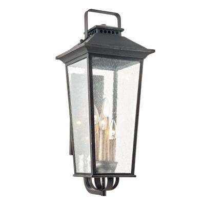 Parsons Field 4-Light Aged Pewter Outdoor Wall Mount Lantern