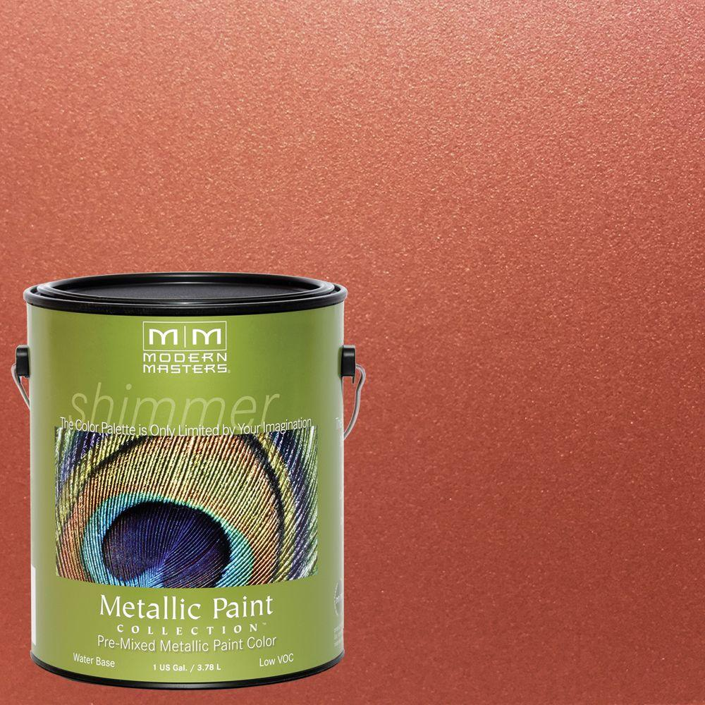 Copper Penny Water Based Satin Metallic Interior Exterior Paint