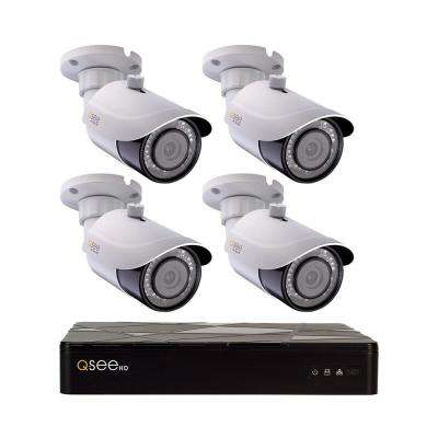 8-Channel 4K 2TB H.265 NVR Security Surveillance System with (4) 8MP IP Bullet Cameras