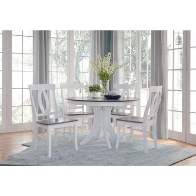 White/Gray Verona Dining Chairs (Set of 2)