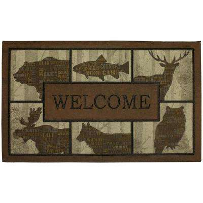 Merveilleux Woodlandwords Blocks 18 In. X 30 In. Doorscapes Mat