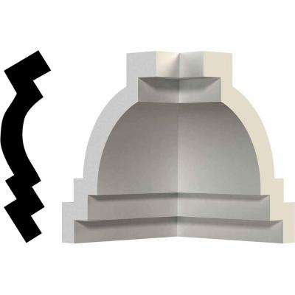 3-3/4 in. x 3-3/4 in. x 3-3/4 in. Polyurethane Inside Corner Moulding