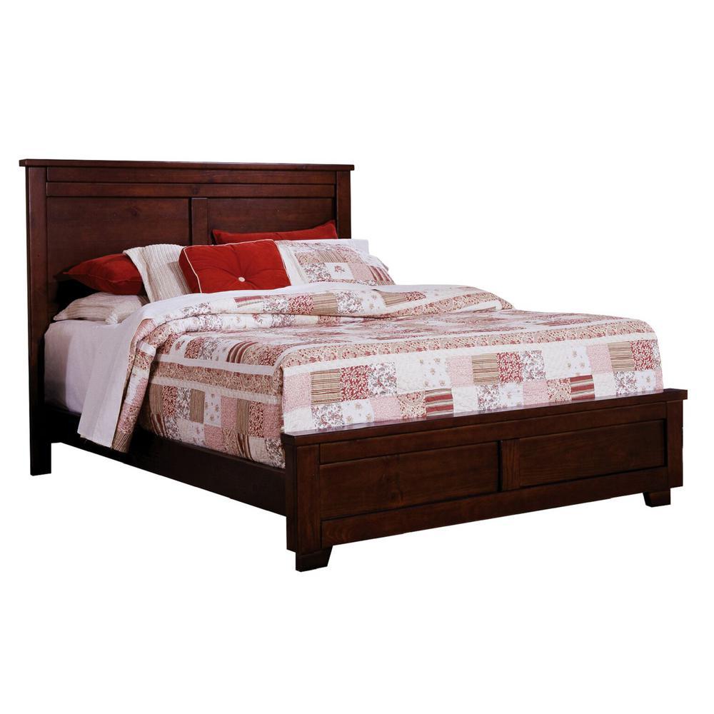 Diego Espresso Pine Queen Complete Bed