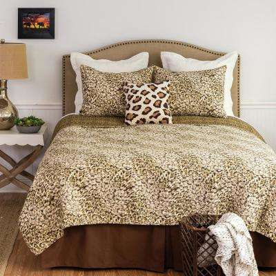 Brown Sabi Sands F/Q Quilt Set
