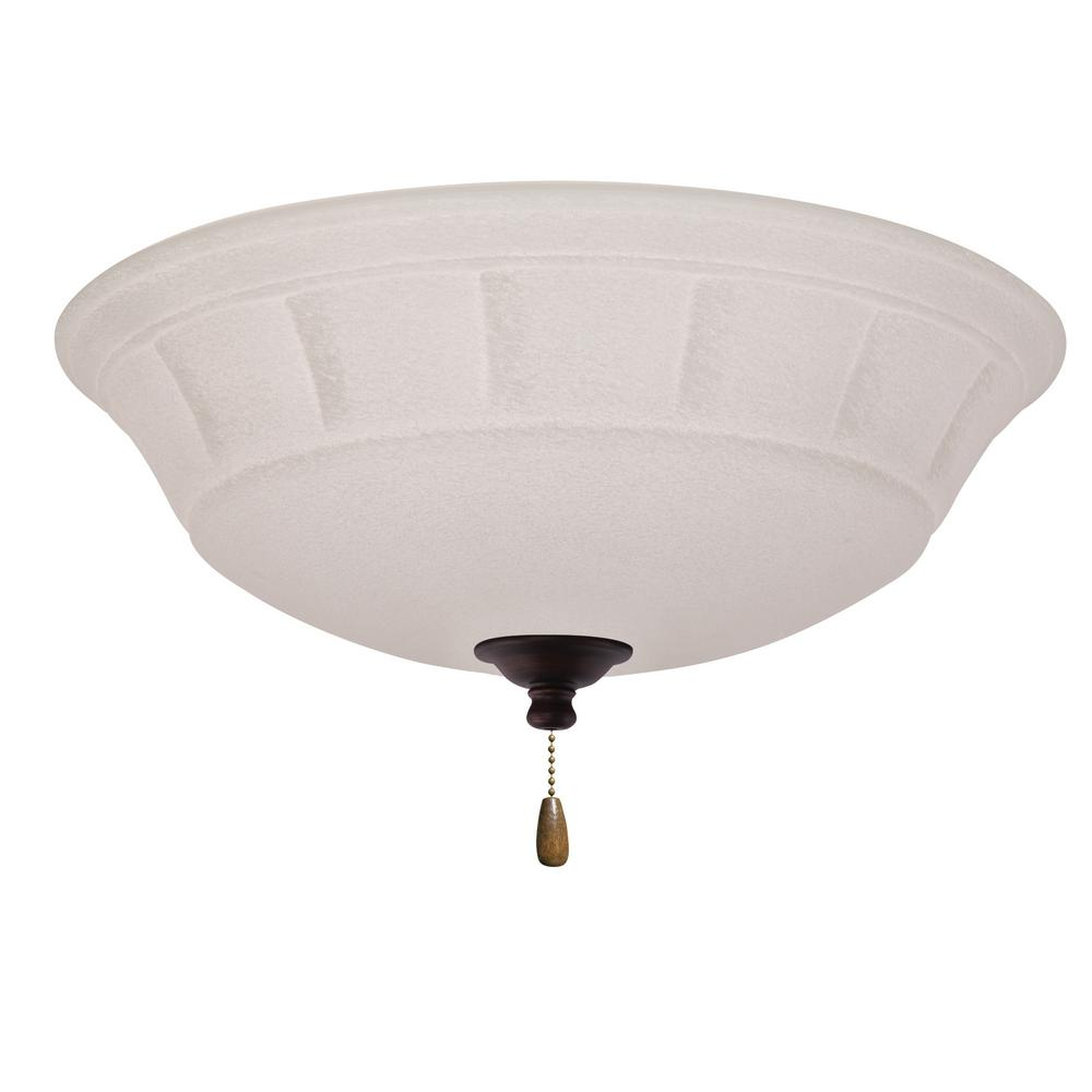 Grande White Mist 3-Light Venetian Bronze Ceiling Fan Light Kit
