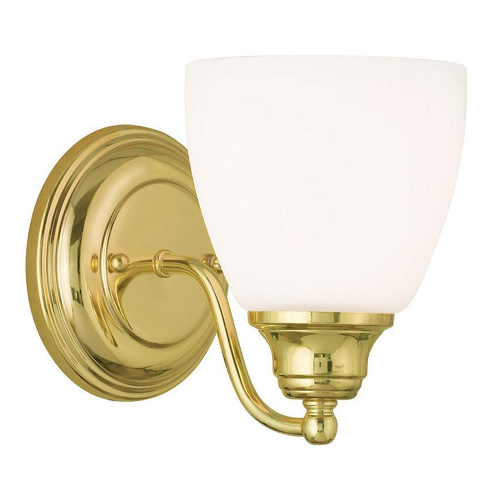 Livex Lighting Somerville 1-Light Polished Brass Wall Sconce-13671 ...