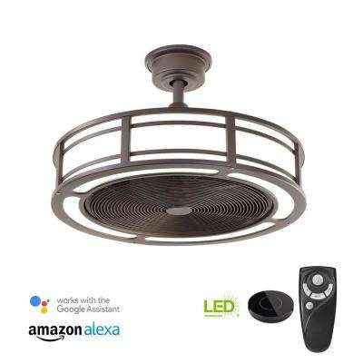 Led Indoor Espresso Bronze Ceiling Fan With Light Kit Works Google