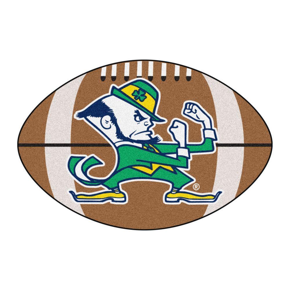 FANMATS NCAA Notre Dame Irish Logo Brown 1 Ft. 10 In. X 2