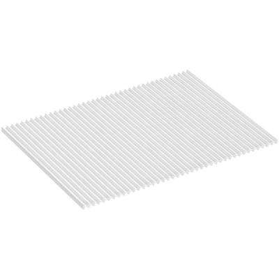 Silicone Dish Drying Mat in White