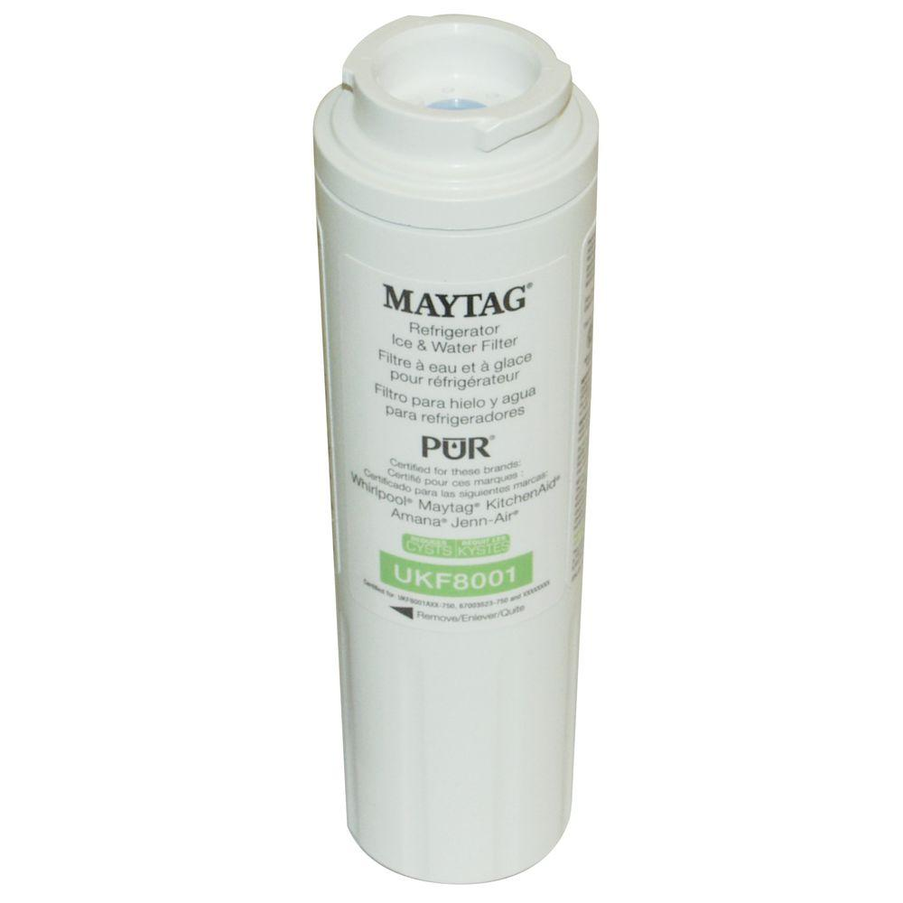 Maytag UKF8001 Refrigerator Water Filter-UKF8001 - The Home Depot on kitchenaid refrigerator water filter, kitchenaid kcm 111 manual, kitchenaid professional coffee maker water filters, kitchenaid water filter replacements,